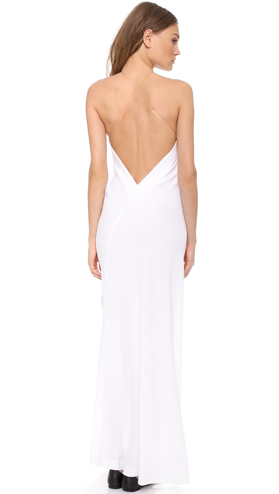 Dkny Illusion Maxi Dress White in White  Lyst