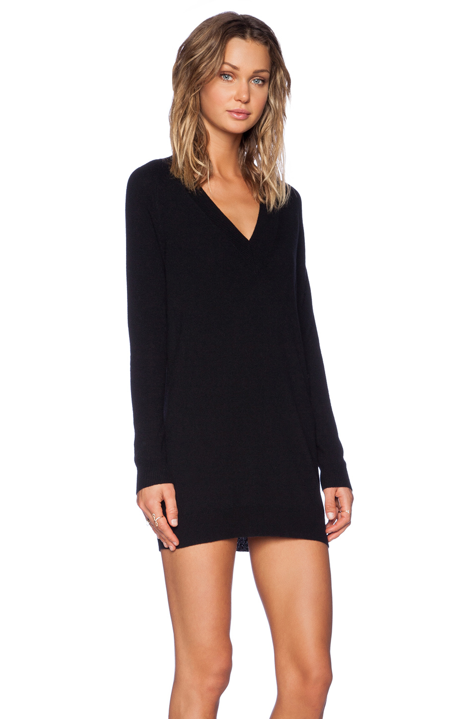 Lyst Theory Delrina Cashmere Sweater Dress In Black