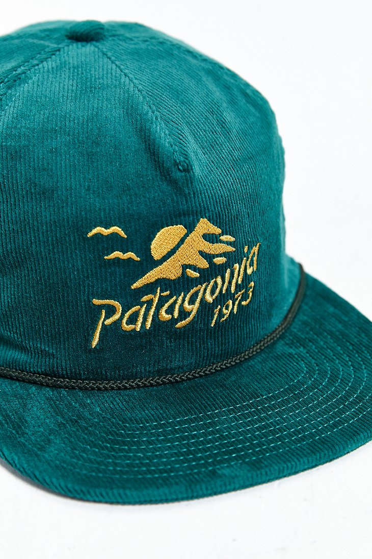 Lyst - Patagonia Coastal Range Corduroy Hat in Green for Men d2a3ad87394