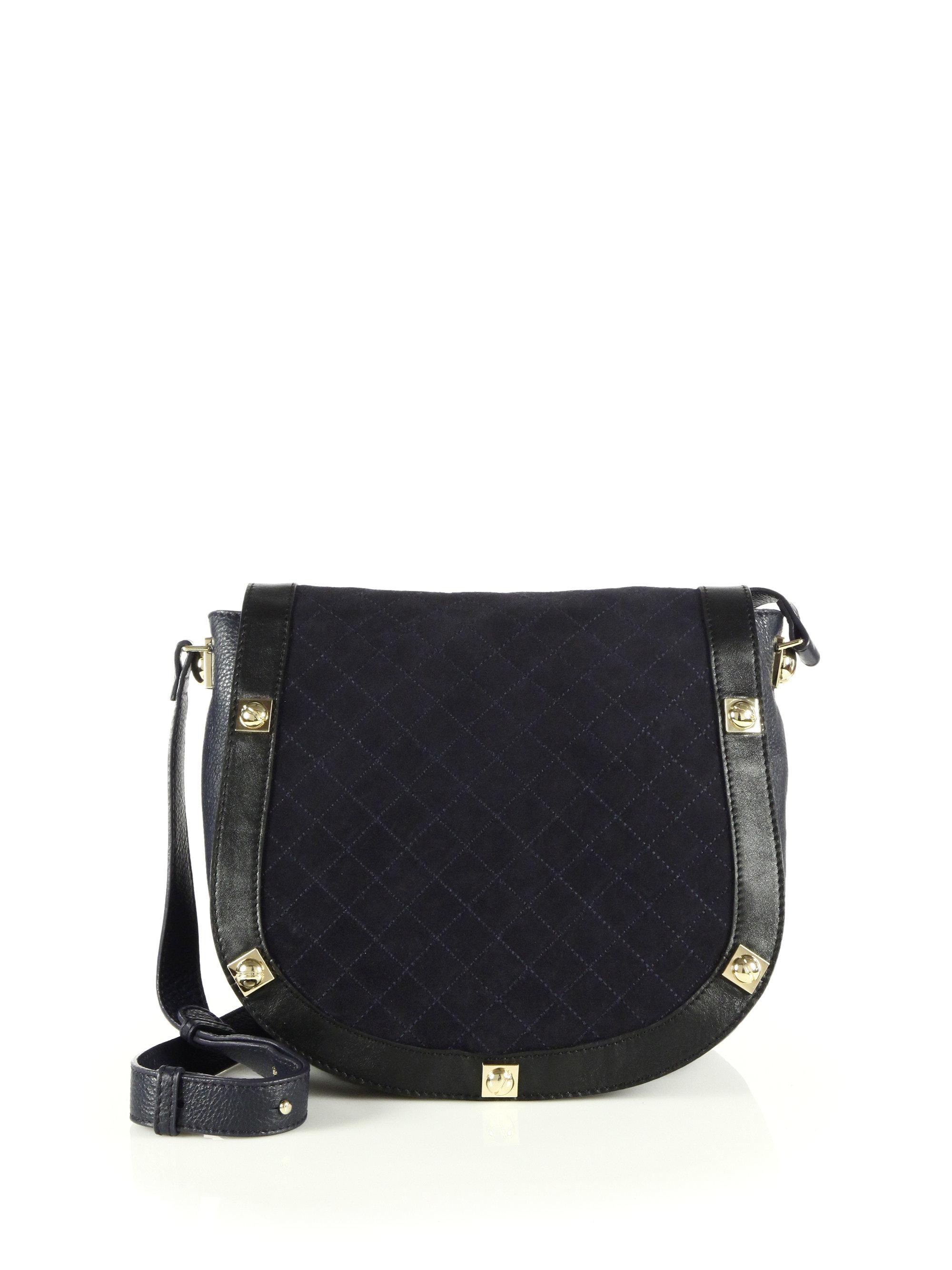 celine studded suede shoulder bag