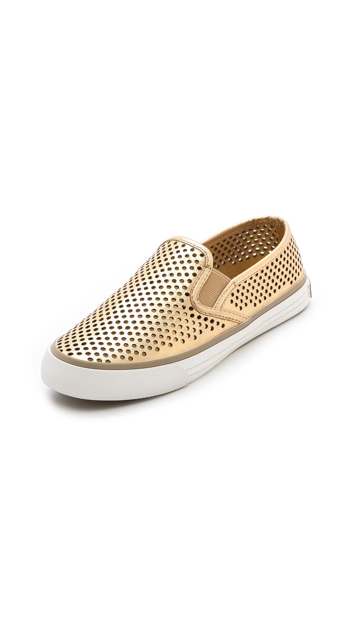 d675eeb1ad6 Lyst - Tory Burch Miles Slip On Sneakers Mayan Gold in Metallic
