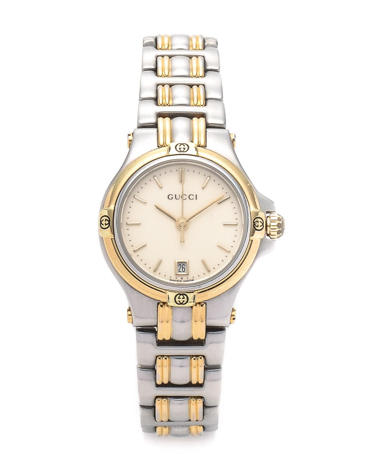3759e824ed8 Lyst - Gucci Silver 9040L Timepiece Watch in Metallic