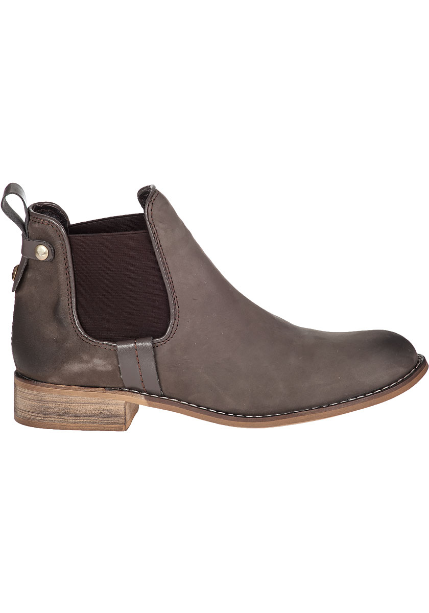steve madden gilte ankle boot brown suede in gray lyst