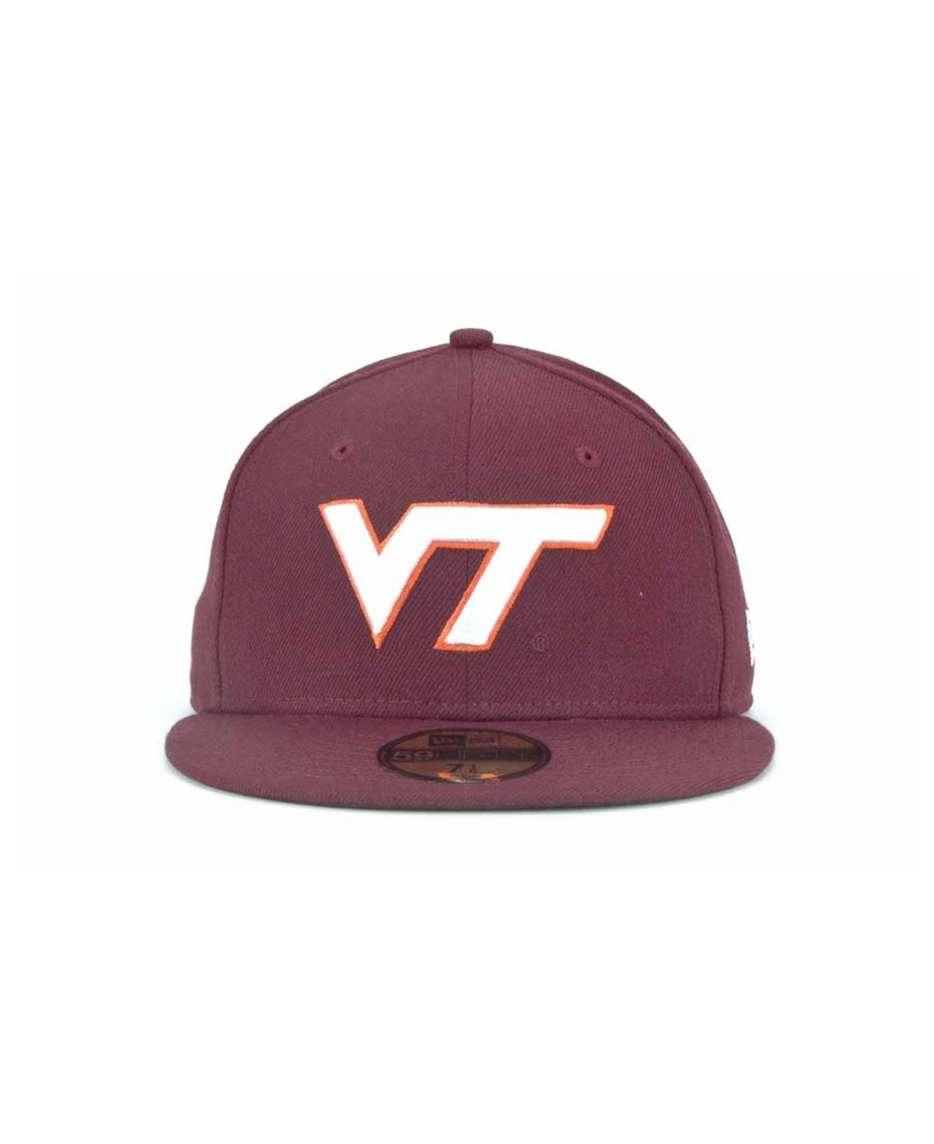 low priced 3f32c 9a44c Lyst - KTZ Virginia Tech Hokies 59fifty Cap in Purple for Men
