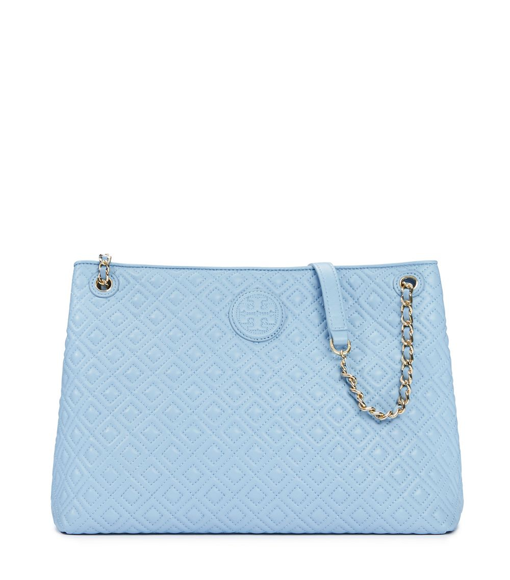 Tory Burch Marion Quilted Chain Shoulder Slouchy Tote In