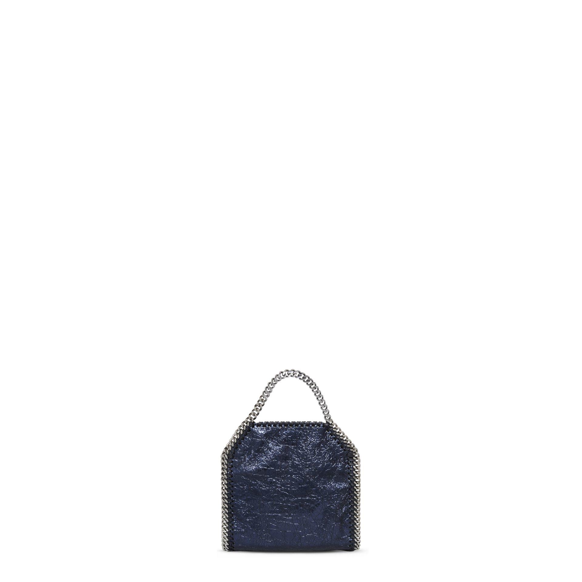 9ae8b0add6f5 Lyst - Stella McCartney Falabella Metallic Crackle Tiny Tote Bag in Blue