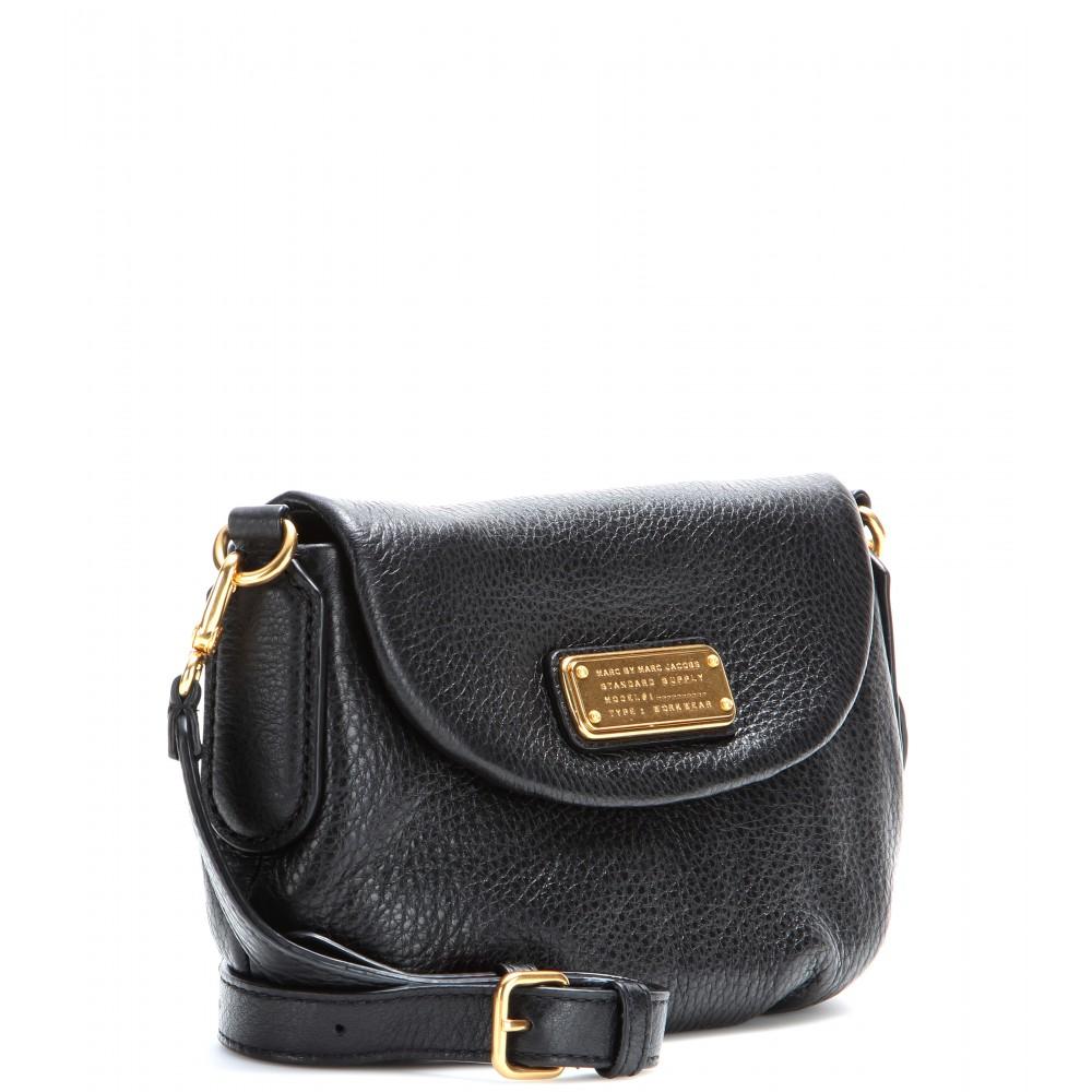 d479ec3ab7693 Lyst - Marc By Marc Jacobs Classic Q Flap Percy Leather Shoulder Bag ...