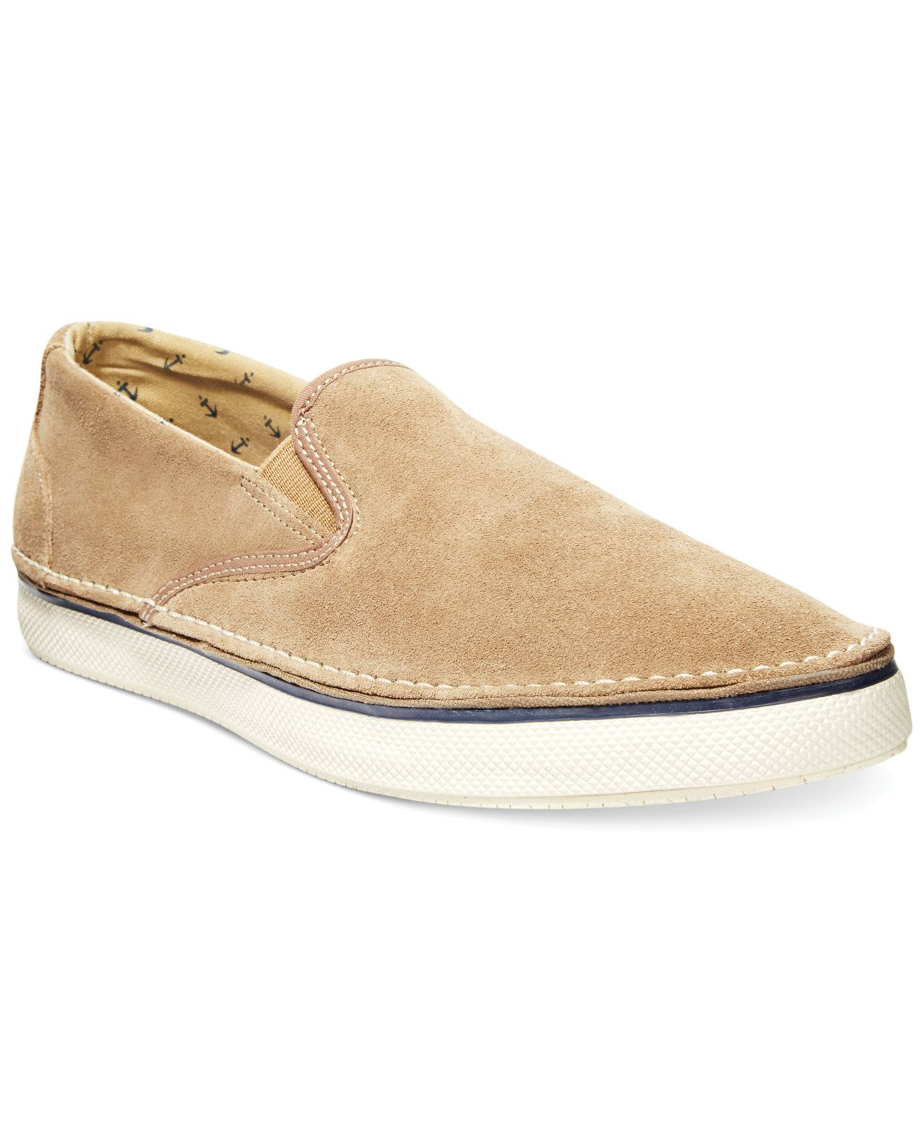 sperry top sider slip on shoes in beige for