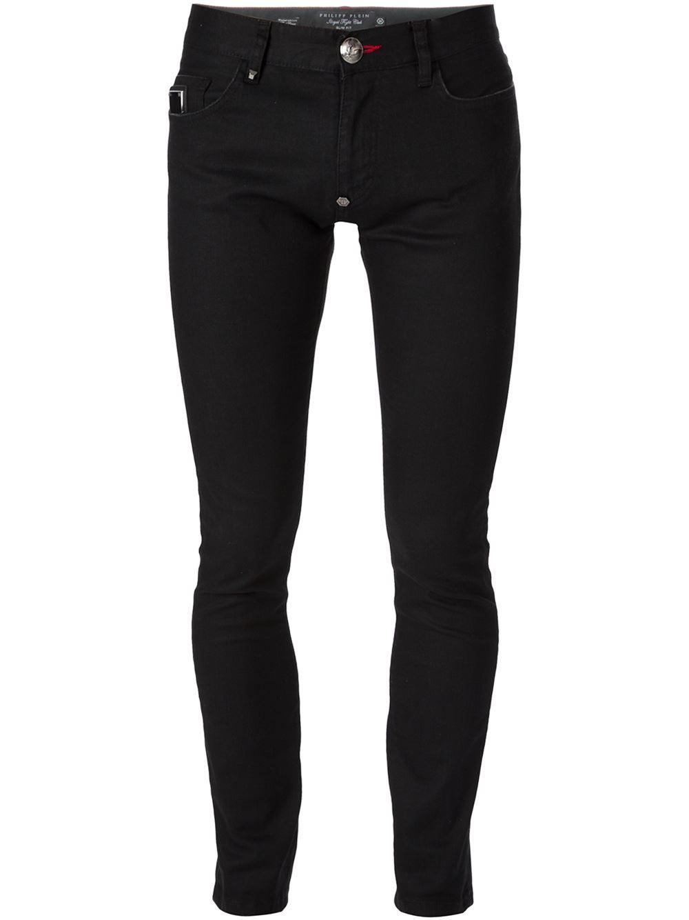philipp plein skinny jeans in black for men. Black Bedroom Furniture Sets. Home Design Ideas