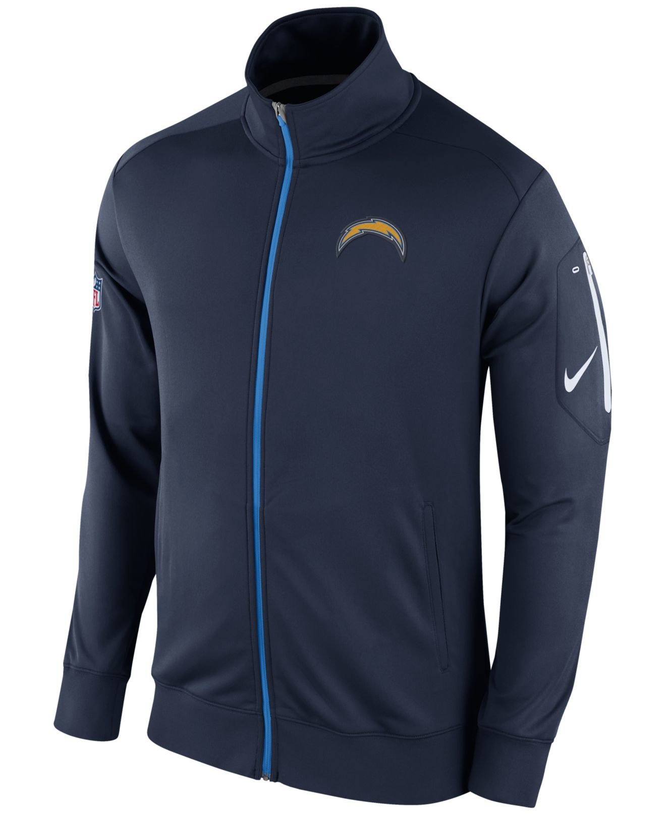 San Diego Chargers Clothing: Nike Men's San Diego Chargers Empower Jacket In Blue For