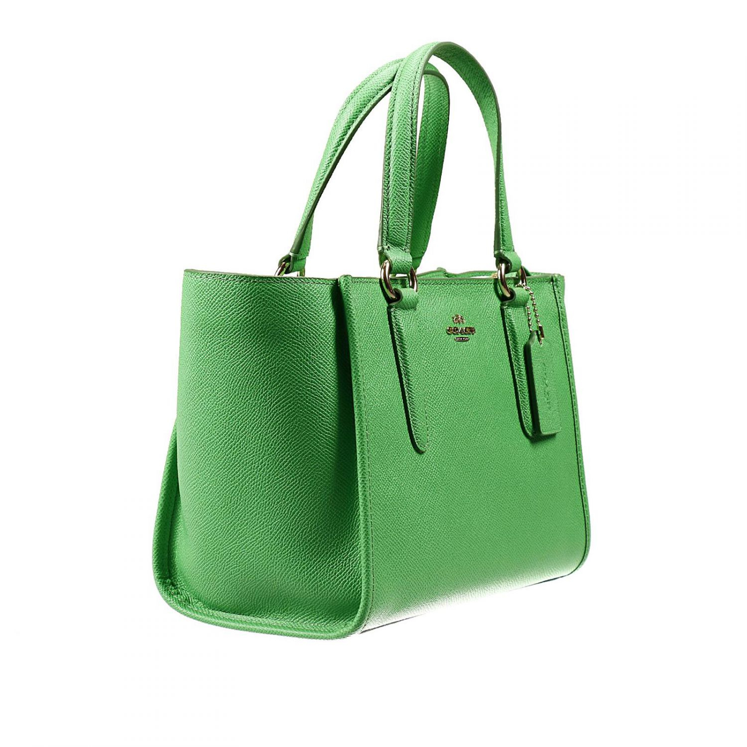 779de01117 ... where can i buy lyst coach handbag bag mini crossbe carryall shopping  leather in green 967f1