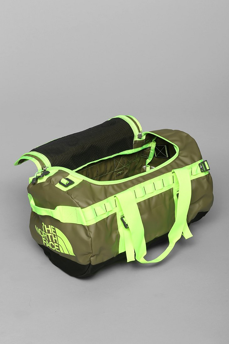 the north face basecamp small duffle bag in green for men. Black Bedroom Furniture Sets. Home Design Ideas