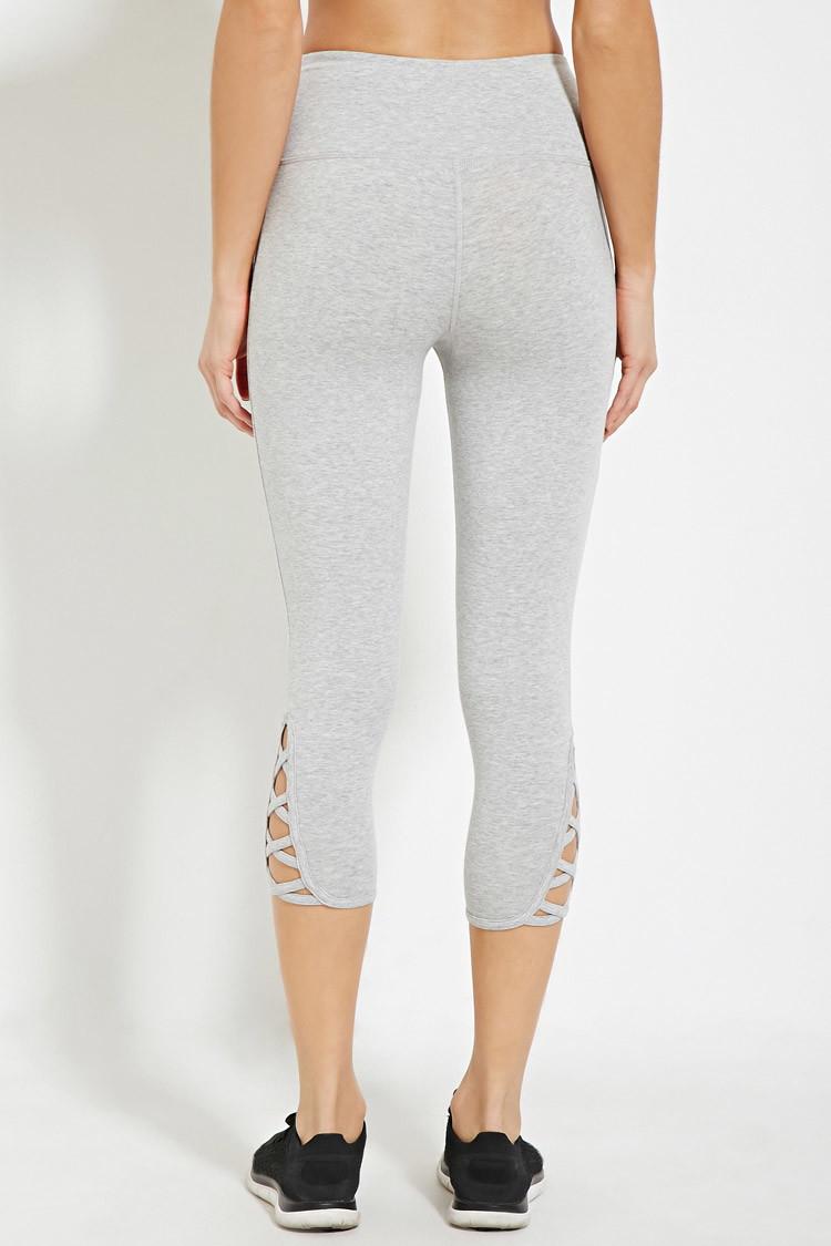 Gray Capri Leggings Trendy Clothes