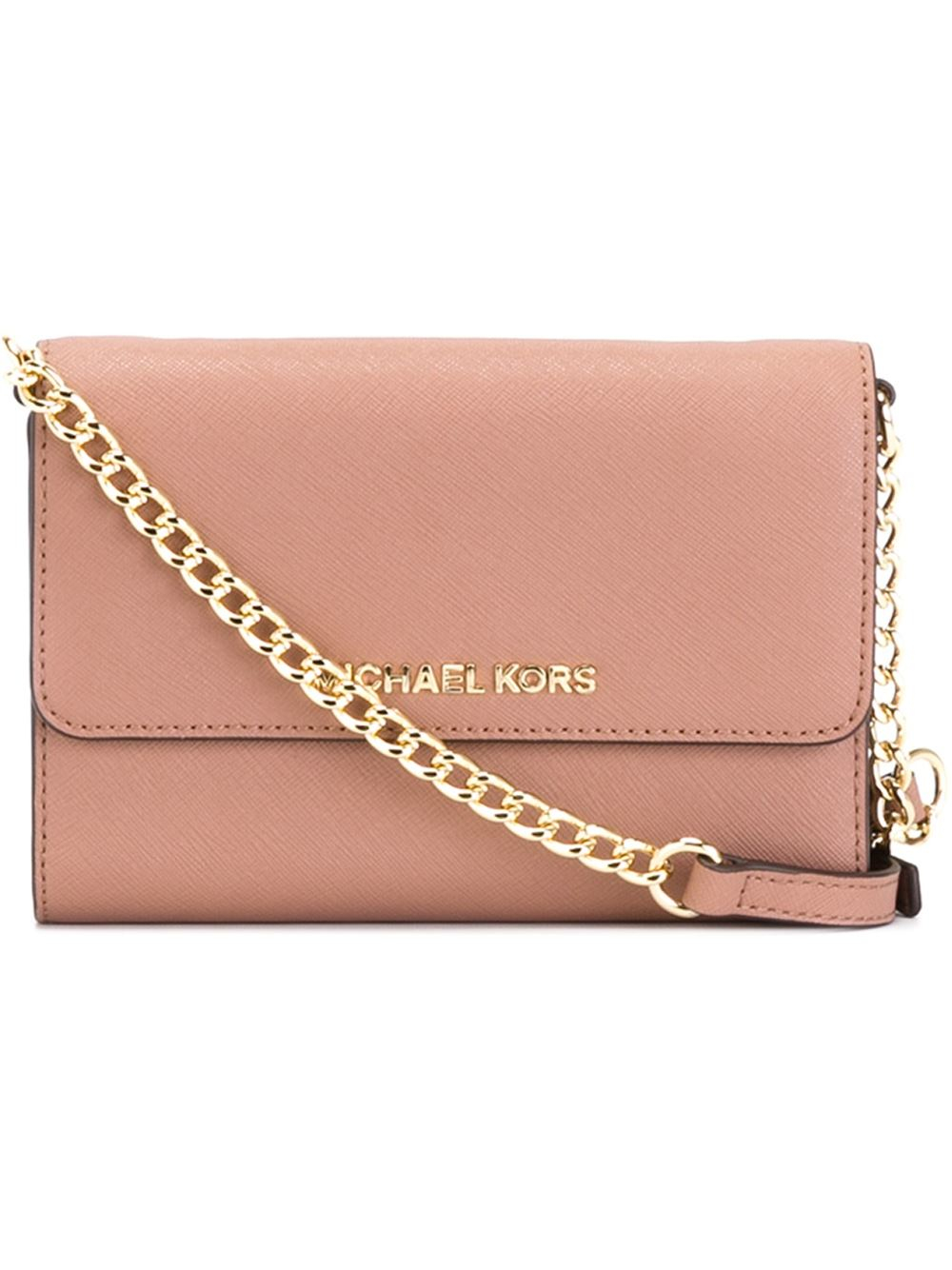 6a14ff5f335c MICHAEL Michael Kors 'jet Set Travel' Phone Crossbody Bag in Pink - Lyst