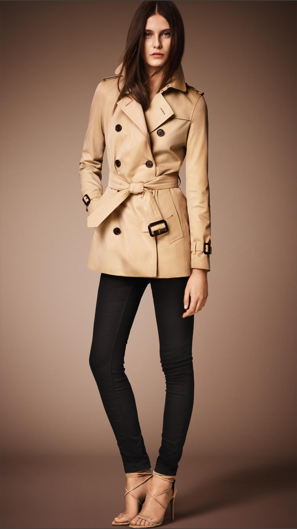 Short Heritage Trench Coat In