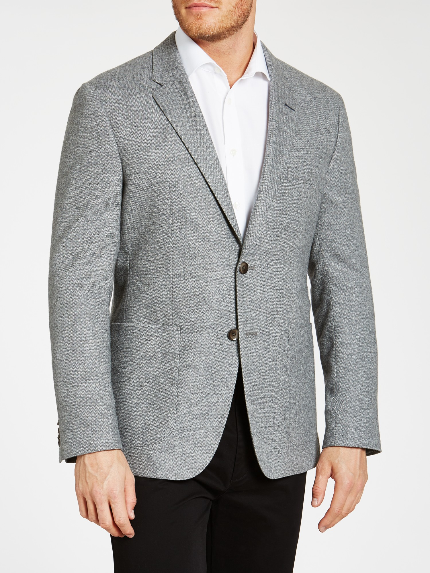 9a56a405fa2 Tommy Hilfiger Normar Patch Pocket Herringbone Blazer in Gray for ...