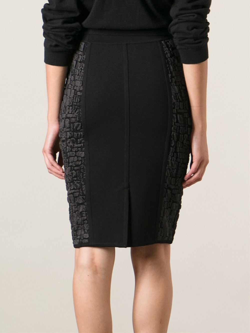 ricci patterned pencil skirt in black lyst