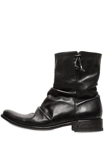 John Varvatos Jimi Hendrix Leather Boots In Black For Men