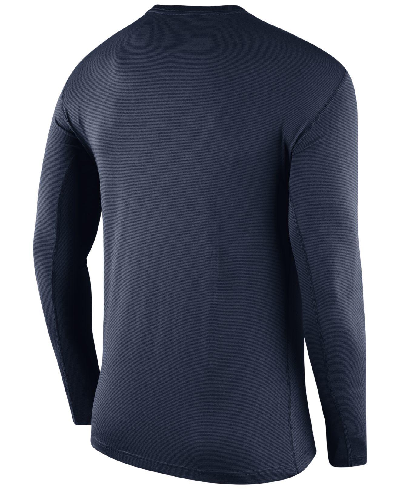 Lyst Nike Men 39 S Long Sleeve Syracuse Orange Stadium Dri