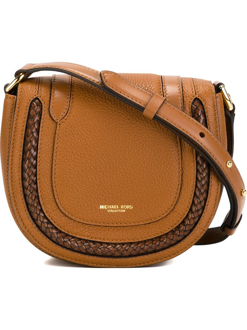 48b5646c93bd Michael Kors Small Skorpios Crossbody Bag in Brown - Lyst