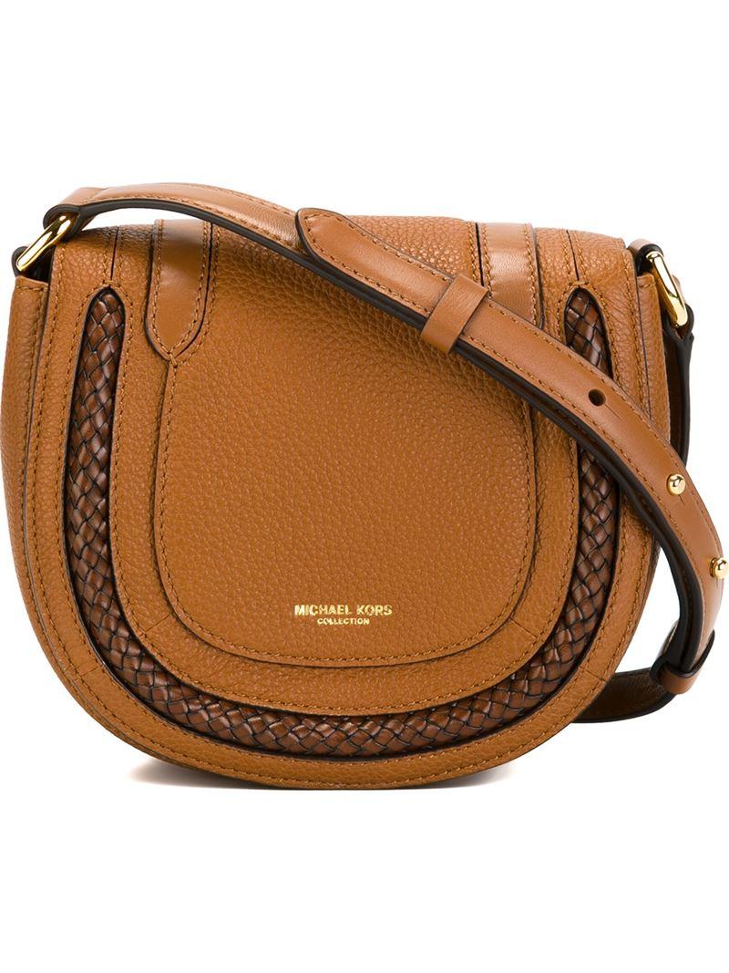 48b5646c93bd Michael Kors Small Skorpios Crossbody Bag in Brown - Lyst