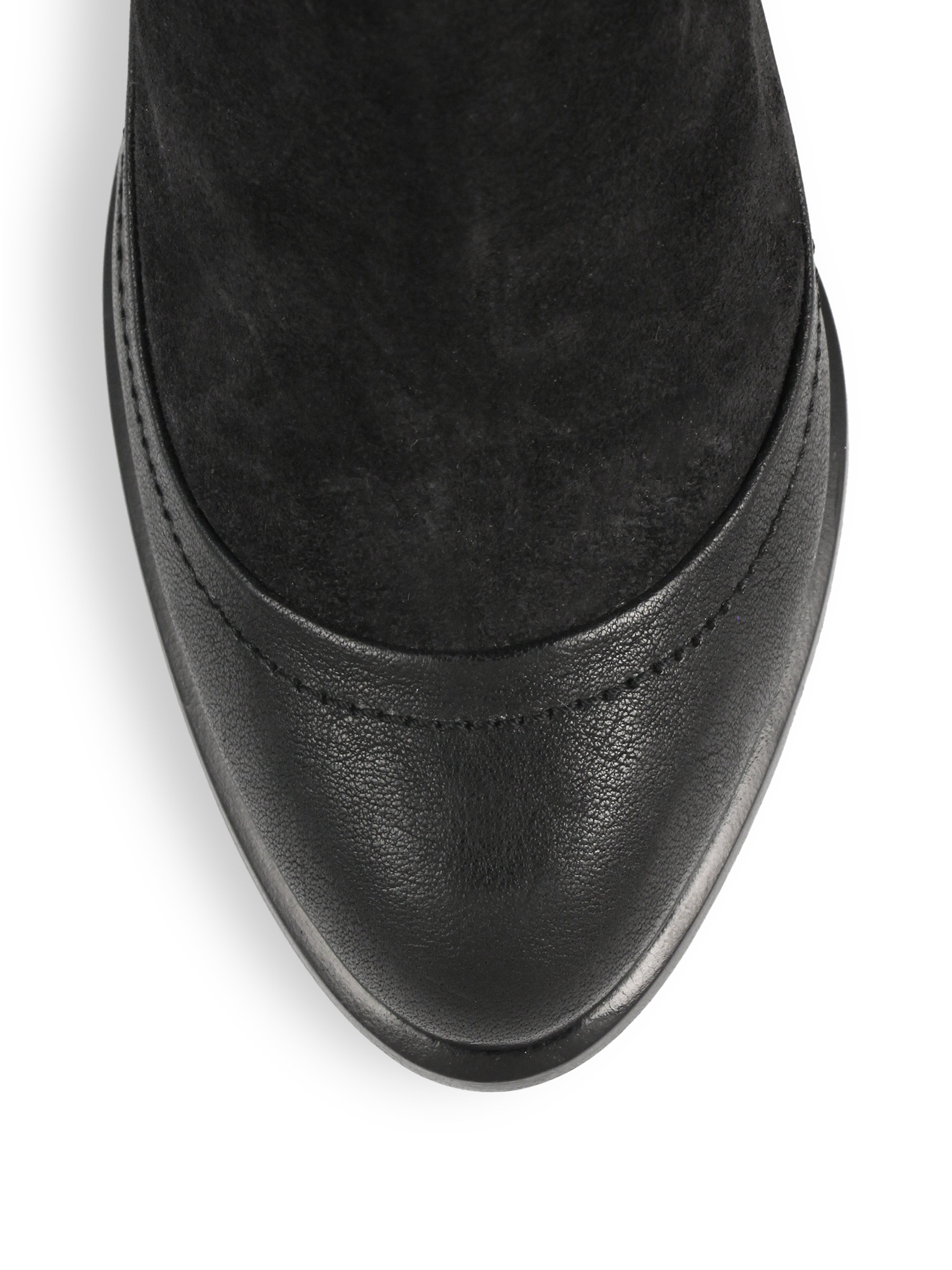 Rag & bone Albion Suede & Leather Ankle Boots in Black | Lyst