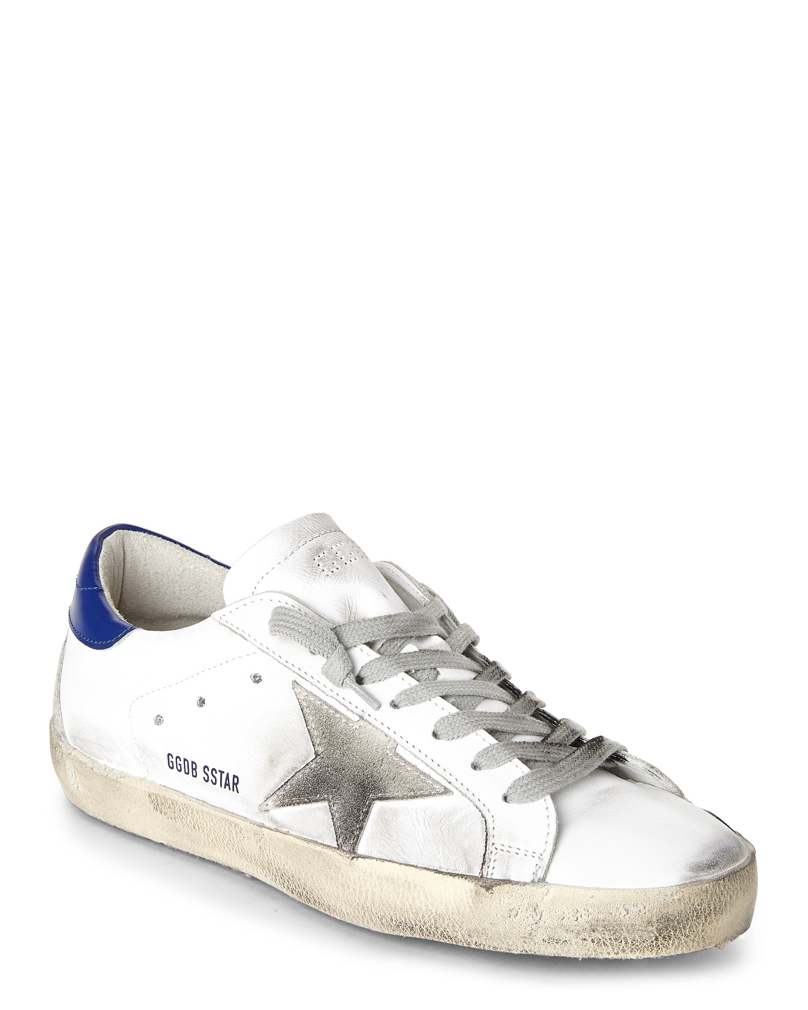 Golden Goose Off-White & Grey Superstar Sneakers