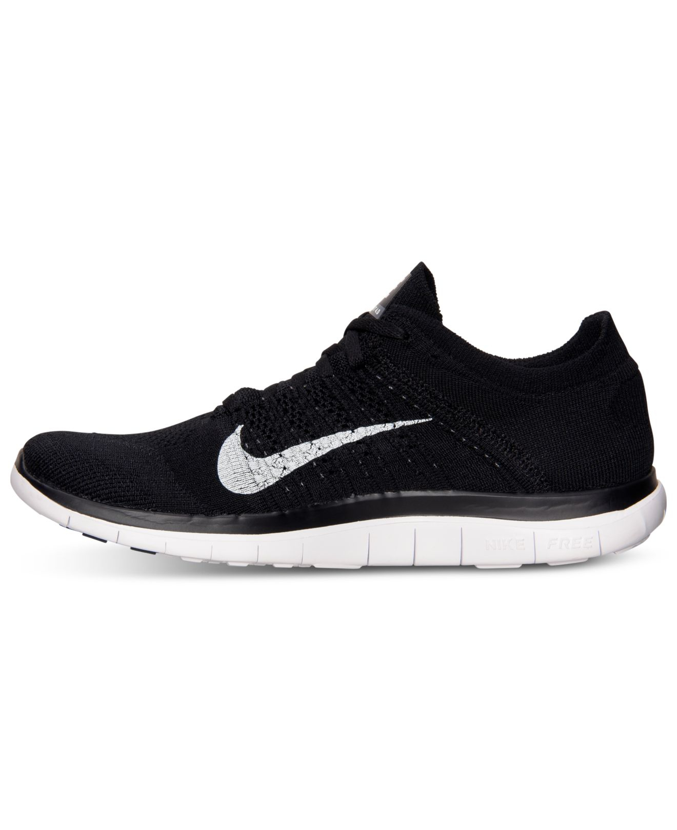 online store 5deb5 74bef Lyst - Nike Men S Free Flyknit 4.0 Running Sneakers From Finish Line ...