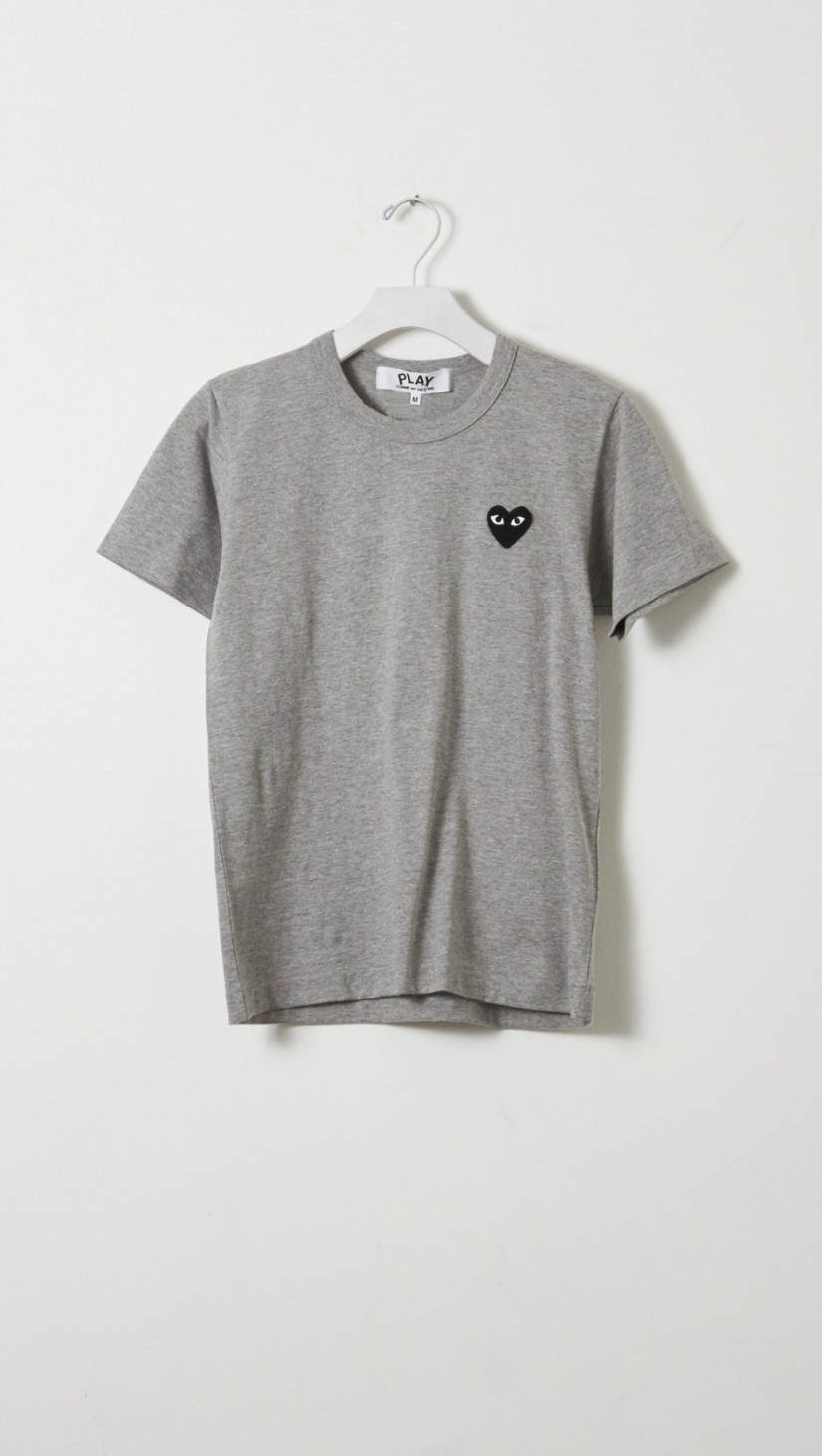 lyst play comme des gar ons emblem tee in gray. Black Bedroom Furniture Sets. Home Design Ideas