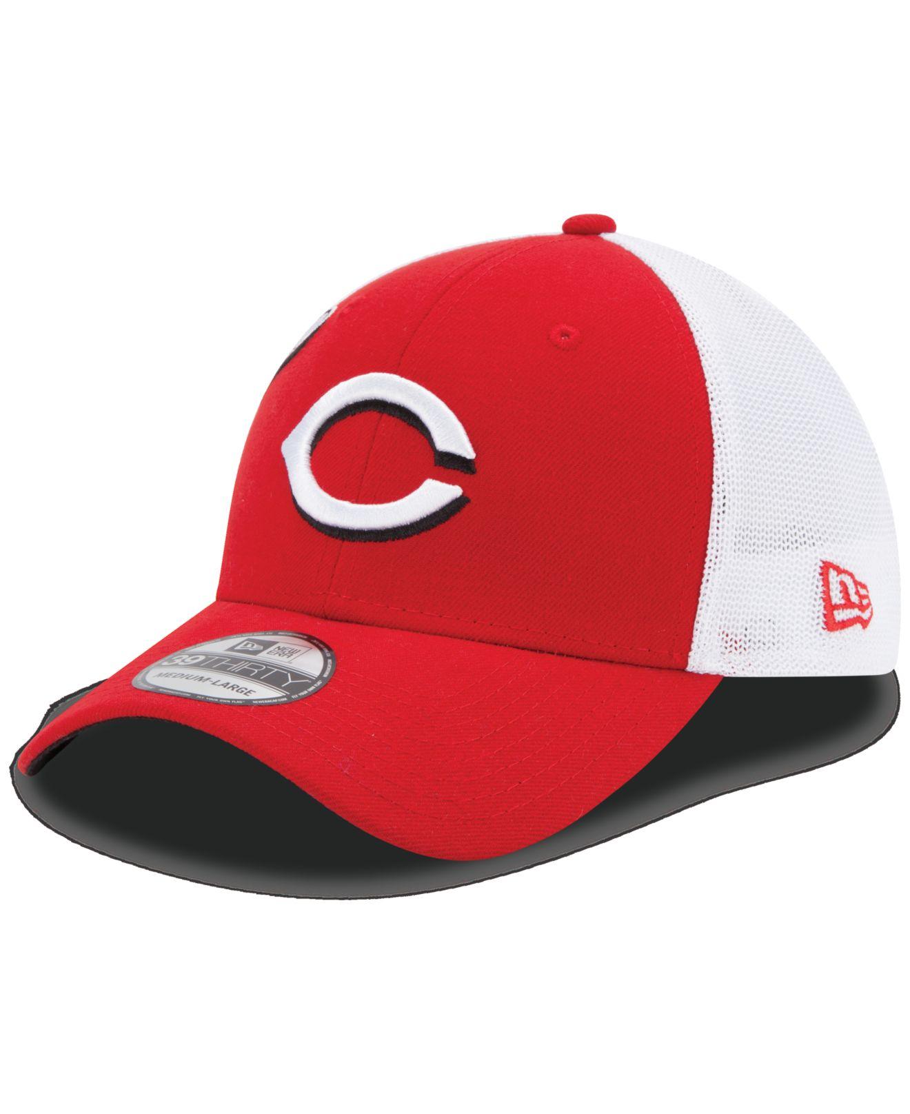 new product 2ee1e 976e5 ... france american needle new school mlb trucker hat lyst ktz cincinnati  reds double mesh 39thirty cap