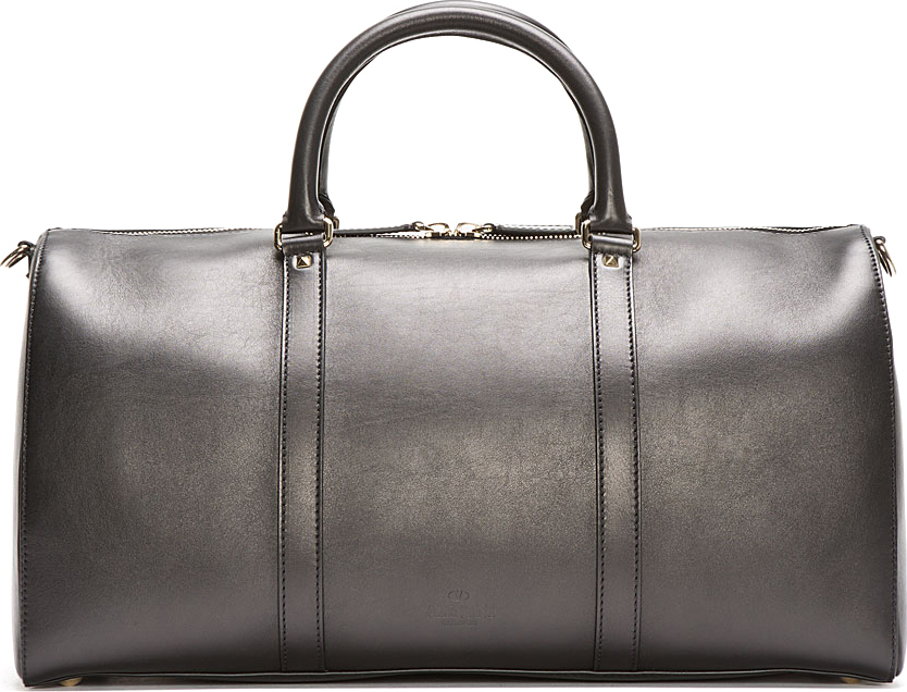 Valentino Black Leather Boston Bag kt4k0i