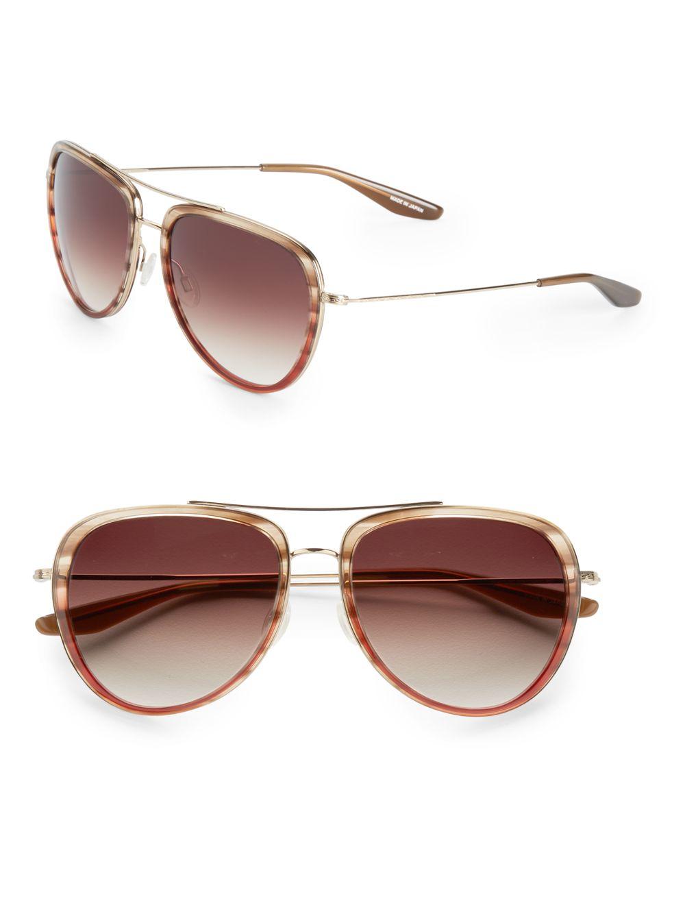 e8453fced6 Barton Perreira 56mm Rio Aviator Sunglasses in Brown - Lyst