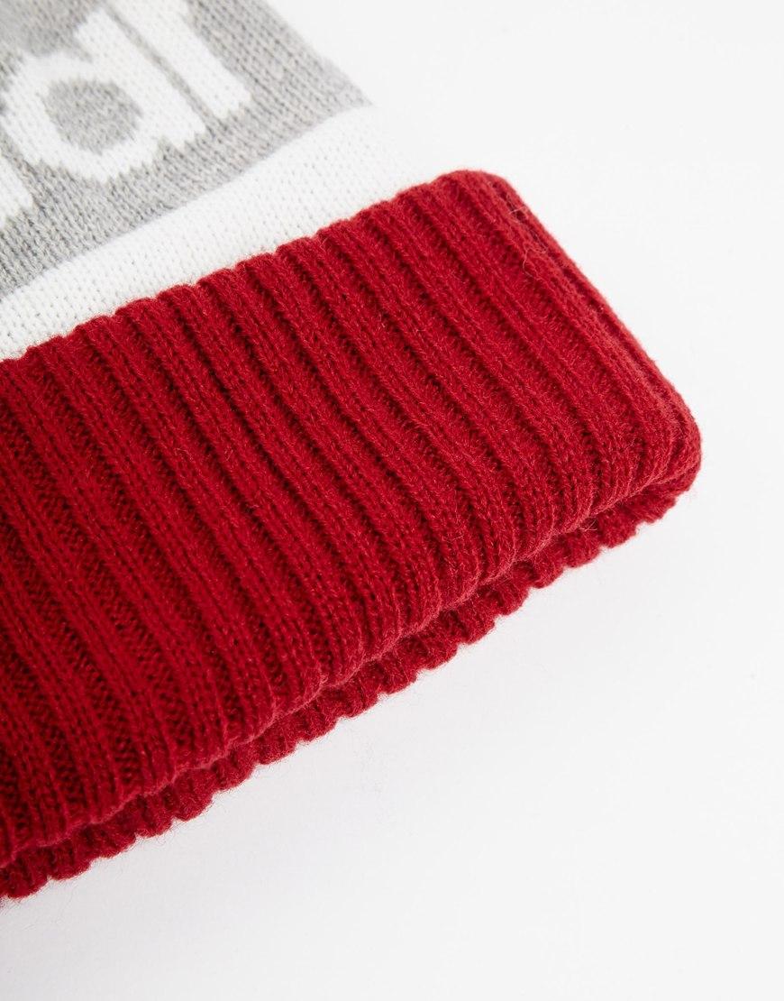 Lyst - New Balance Piste Bobble Hat in Burgundy in Red c5c2bab9087