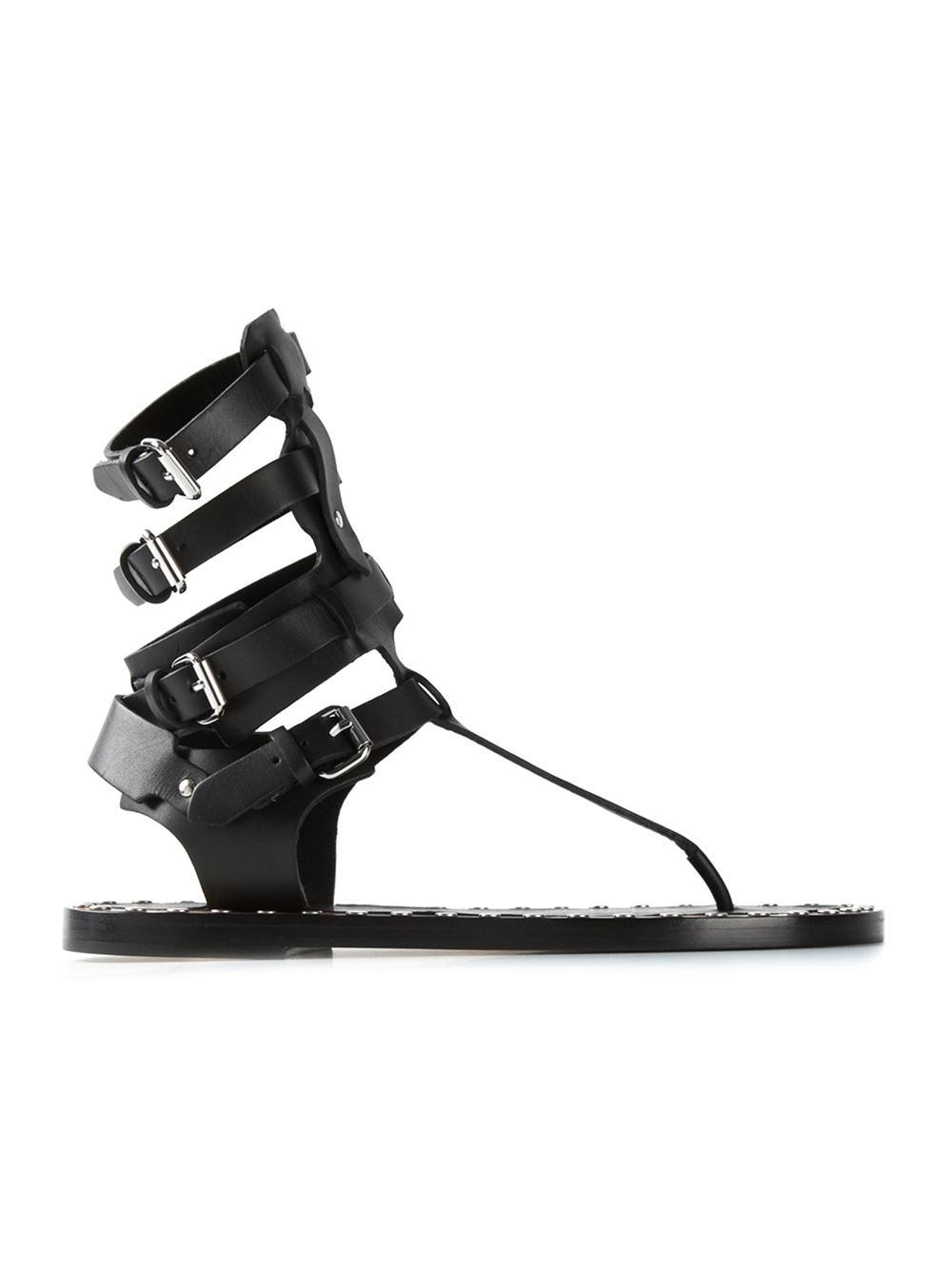 9f5d7ce0ed7d Lyst - Isabel Marant Jeepy Sandals in Black