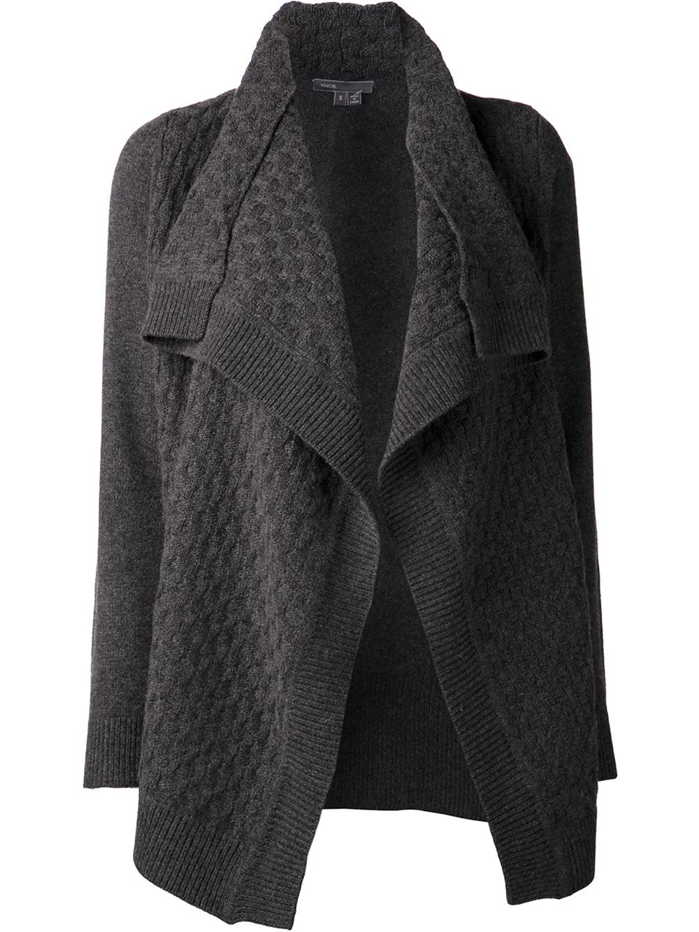 Vince Draped Cardigan in Gray | Lyst