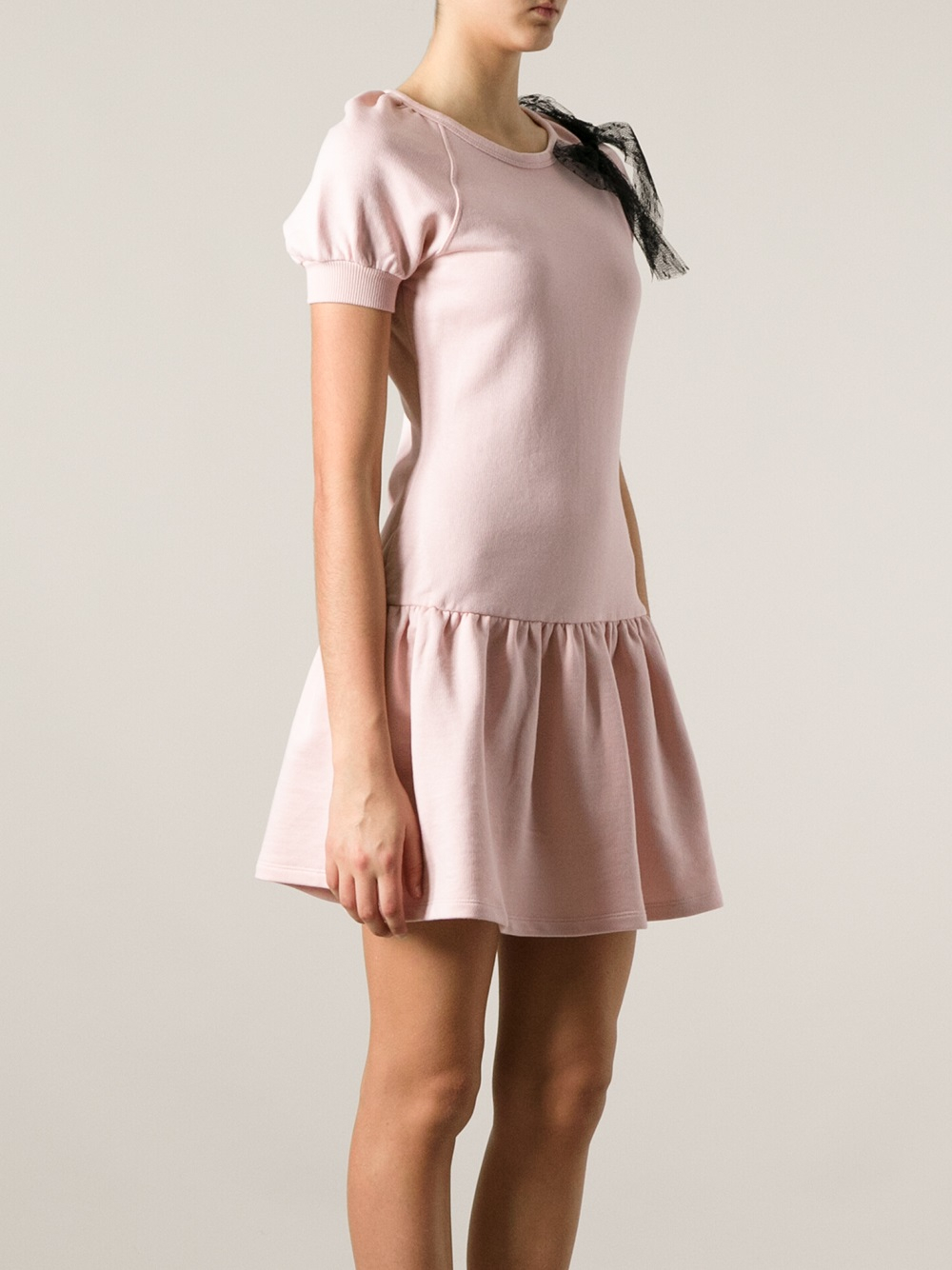 Red Valentino Bow Detail Sweater Dress In Pink Lyst