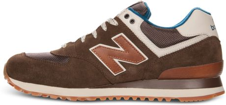 new balance mens 574 casual sneakers from finish line in