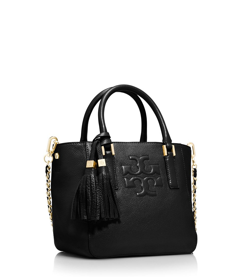 57c0042a7c90 Lyst - Tory Burch Thea Mini Bucket Bag in Black