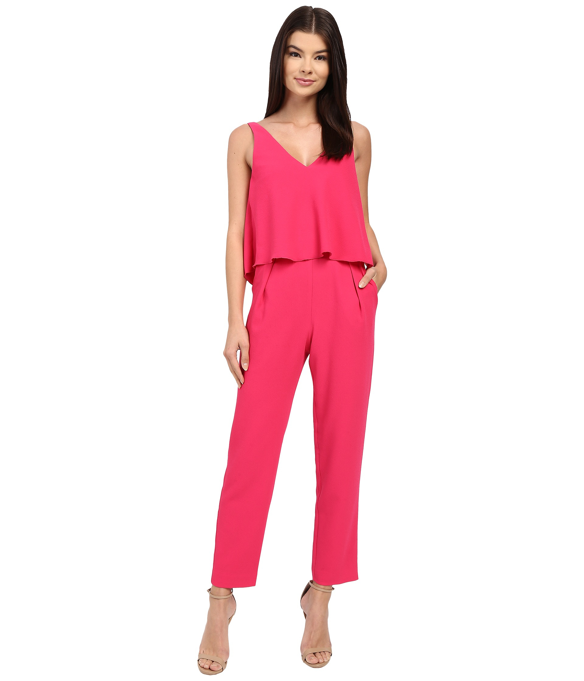 aac4975ef3b Gallery. Previously sold at  Zappos · Women s Pink Jumpsuits ...