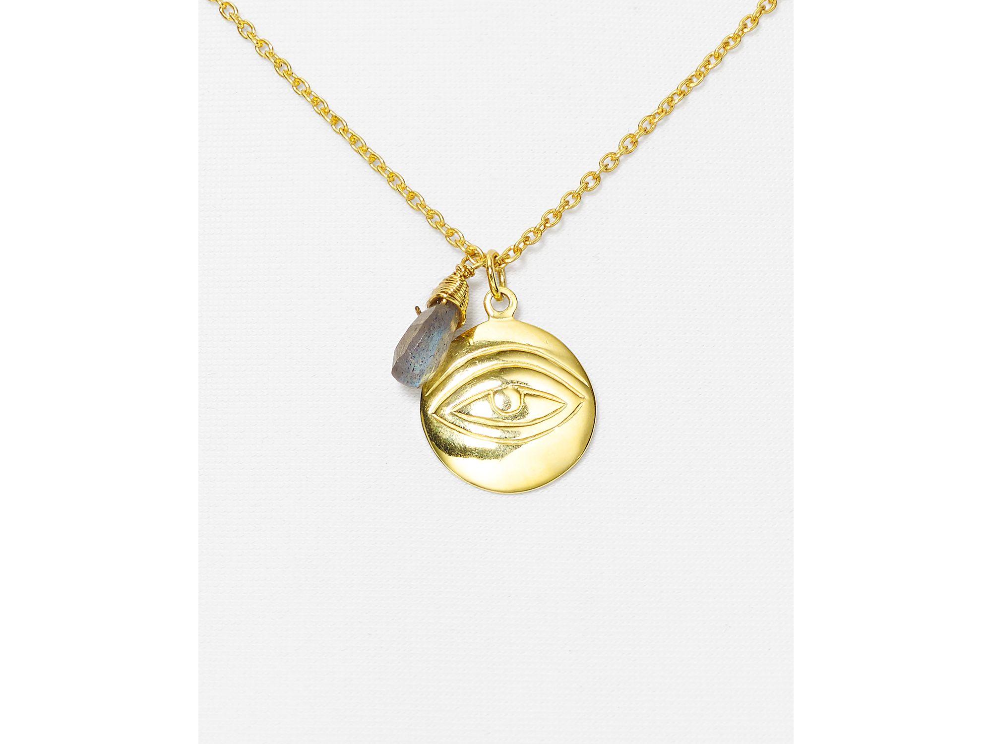 argento vivo labradorite evil eye pendant necklace 16 quot in