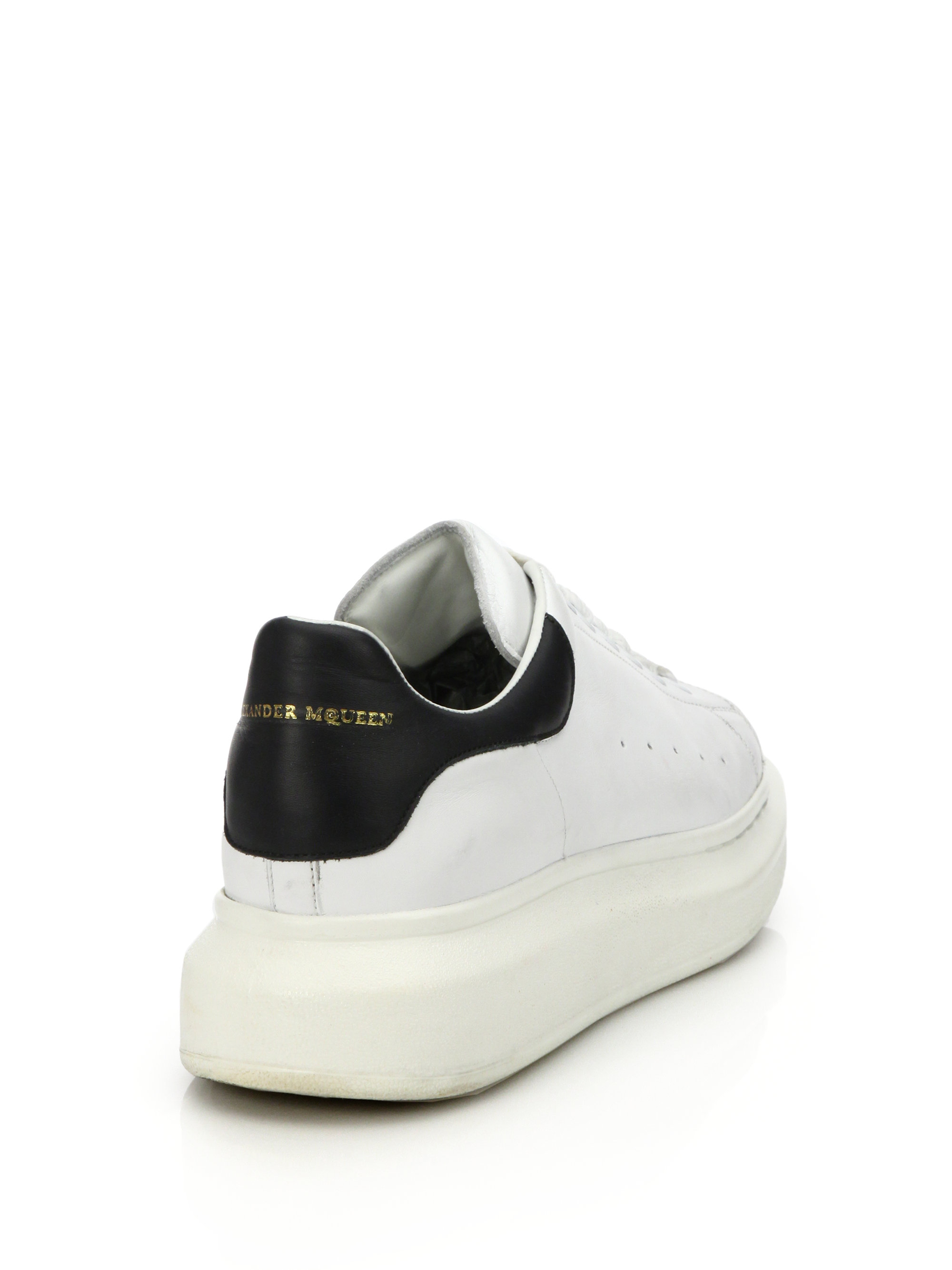 Lyst - Alexander Mcqueen Leather Sneakers in White