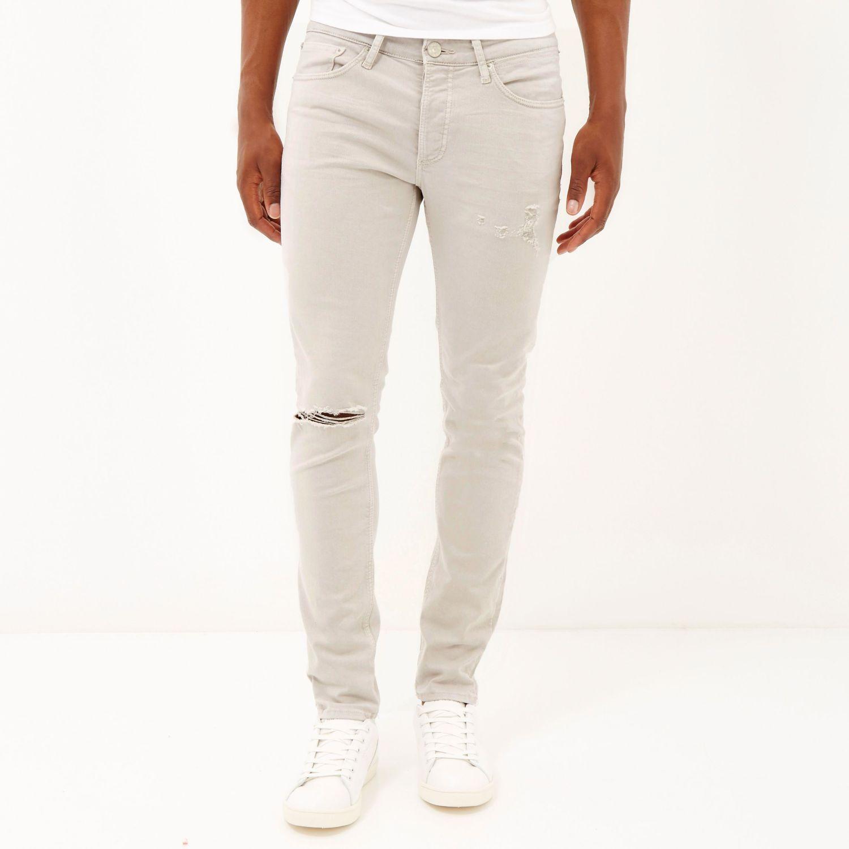 white skinny stretch jeans - Jean Yu Beauty
