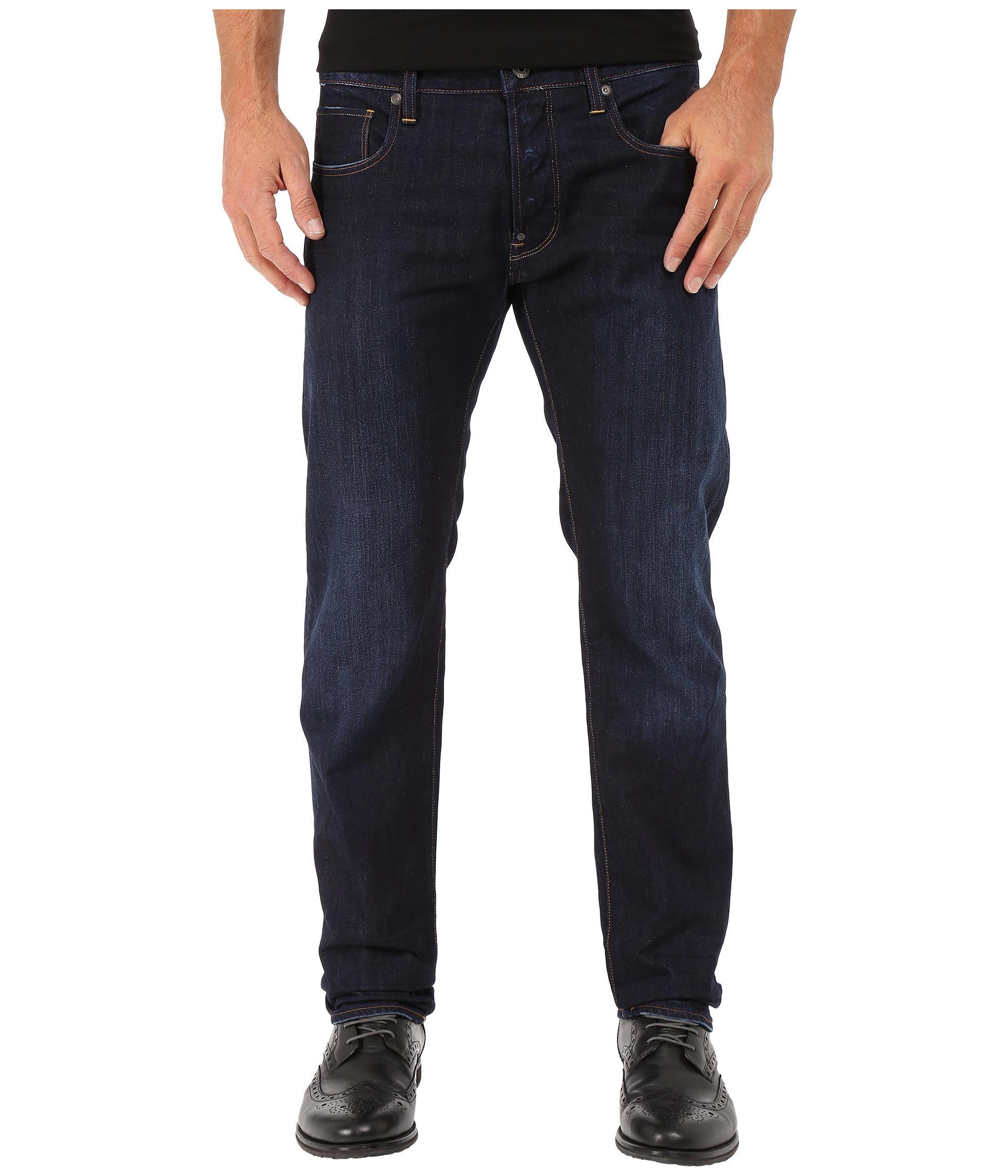 39f7b54d1d8 G-Star RAW Attacc Slim Straight Jeans In Hadron Denim Dark Aged in ...