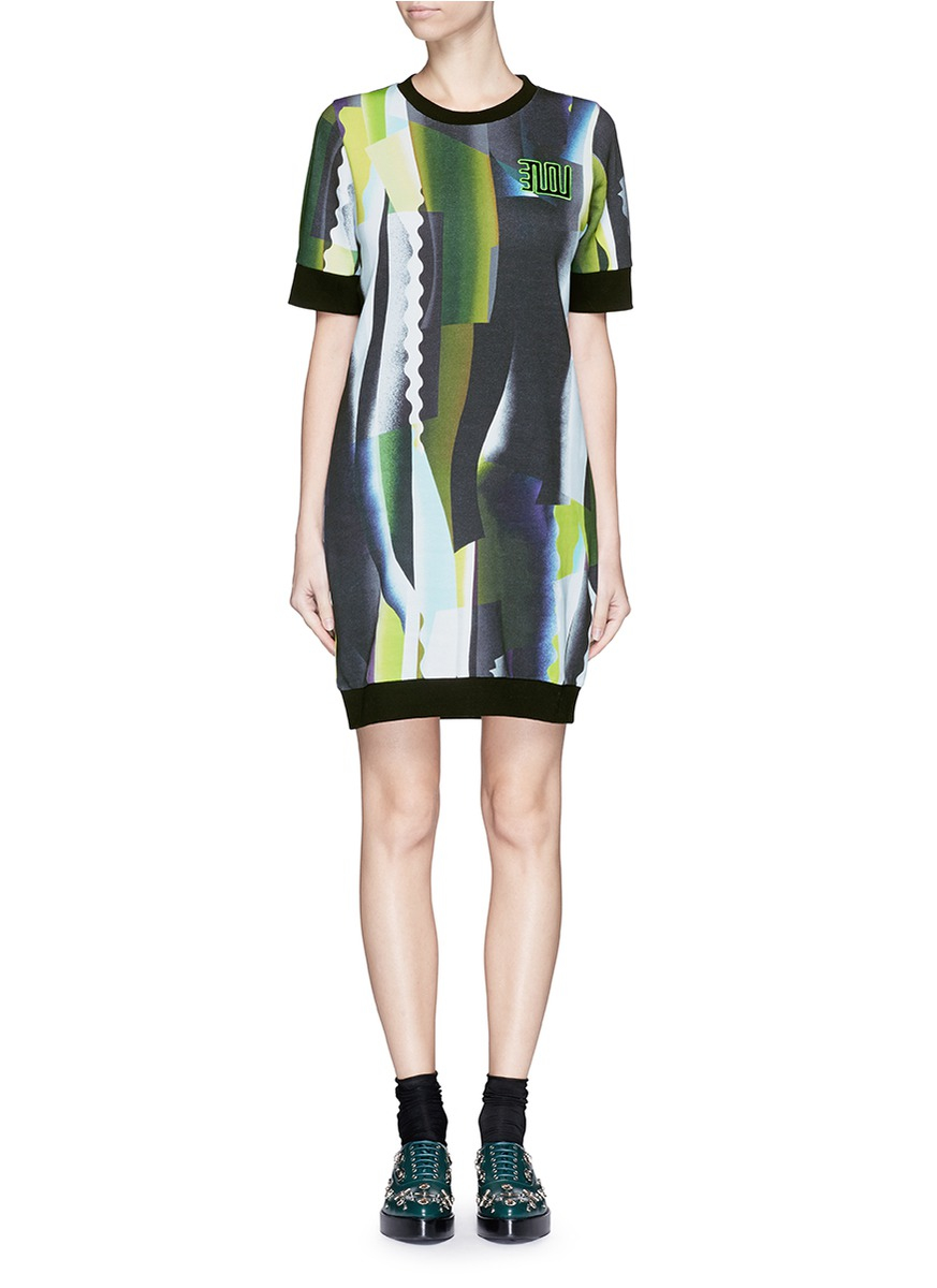 2587a5f38a Lyst - KENZO Spray Collage Print Sweater Dress
