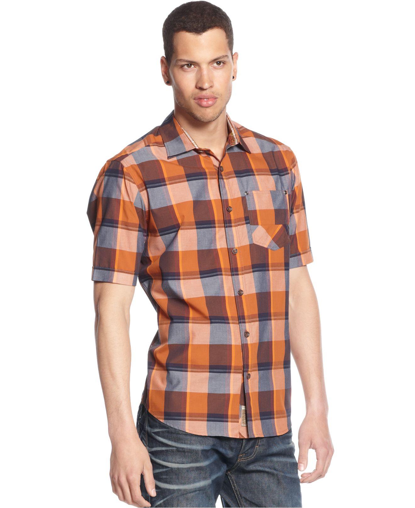 Sean john dark checked shirt for men lyst for Sean john t shirts for mens