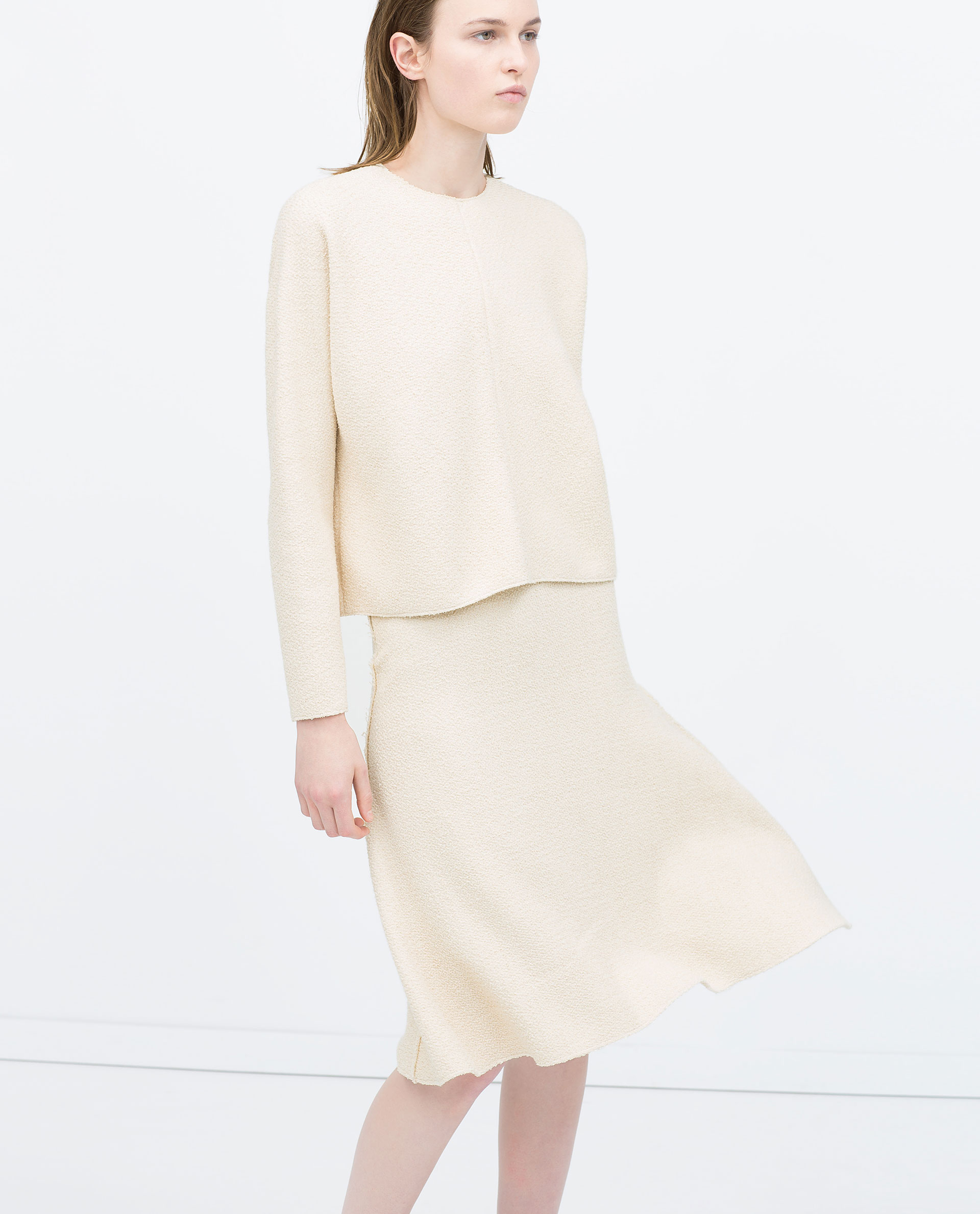 White Knit Skirt - Dress Ala