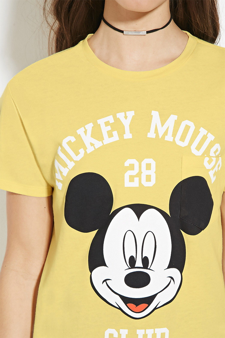 21 Mickey Mouse Nail Art Designs Ideas: Forever 21 Mickey Mouse Graphic Tee You've Been