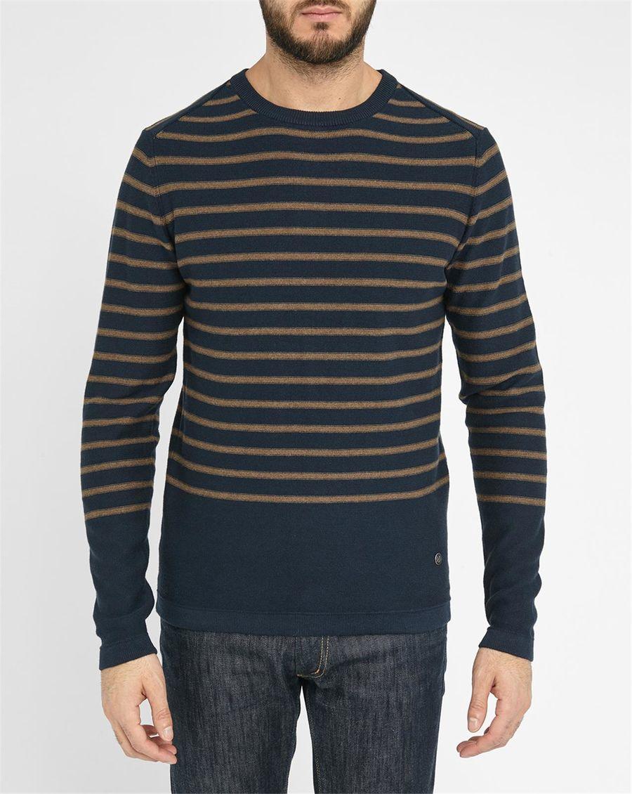 jack jones beige navy barron sailor stripe sweater in. Black Bedroom Furniture Sets. Home Design Ideas