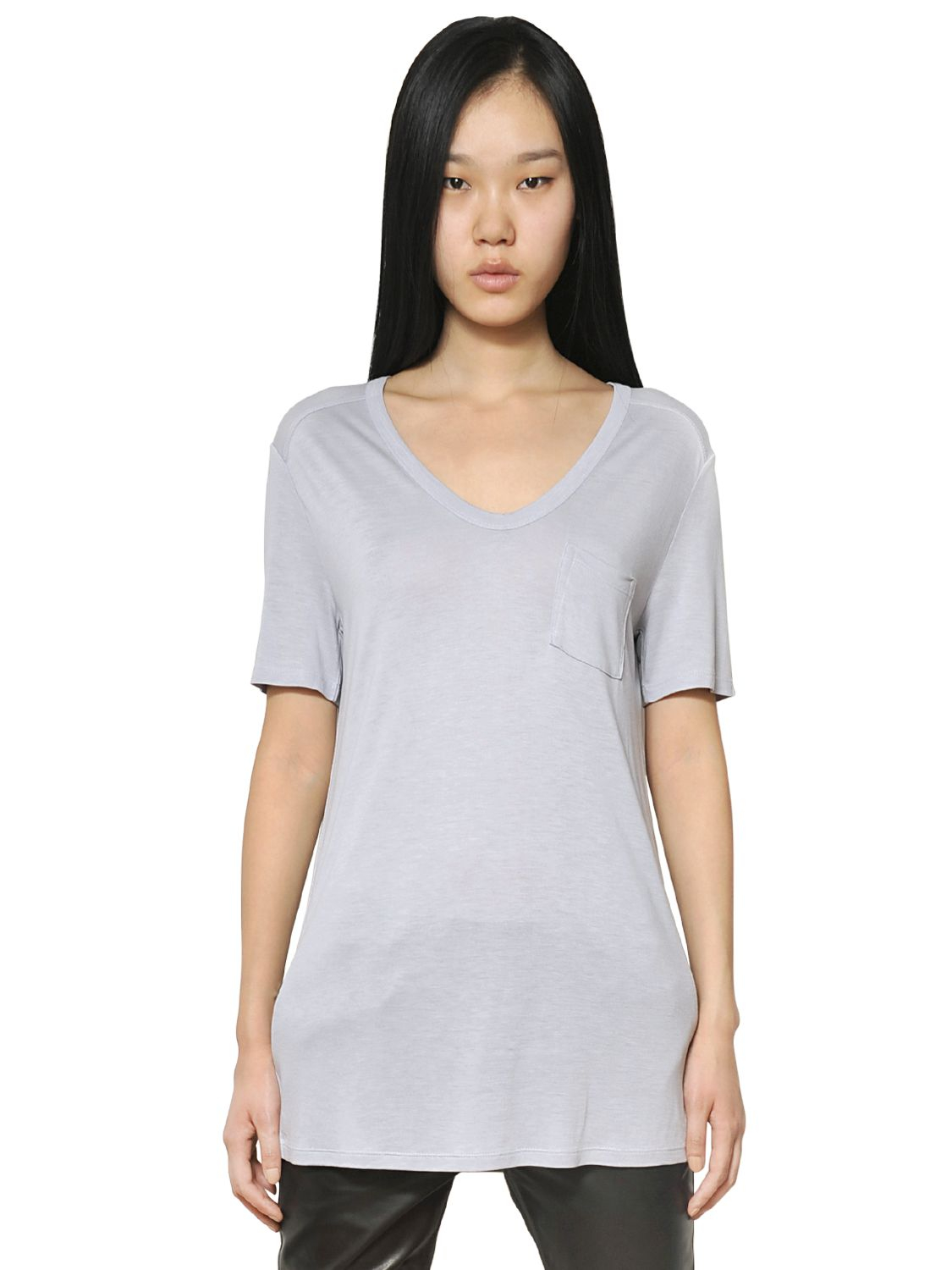 Alexander Wang T Collection Classic Jersey T Shirt In Blue