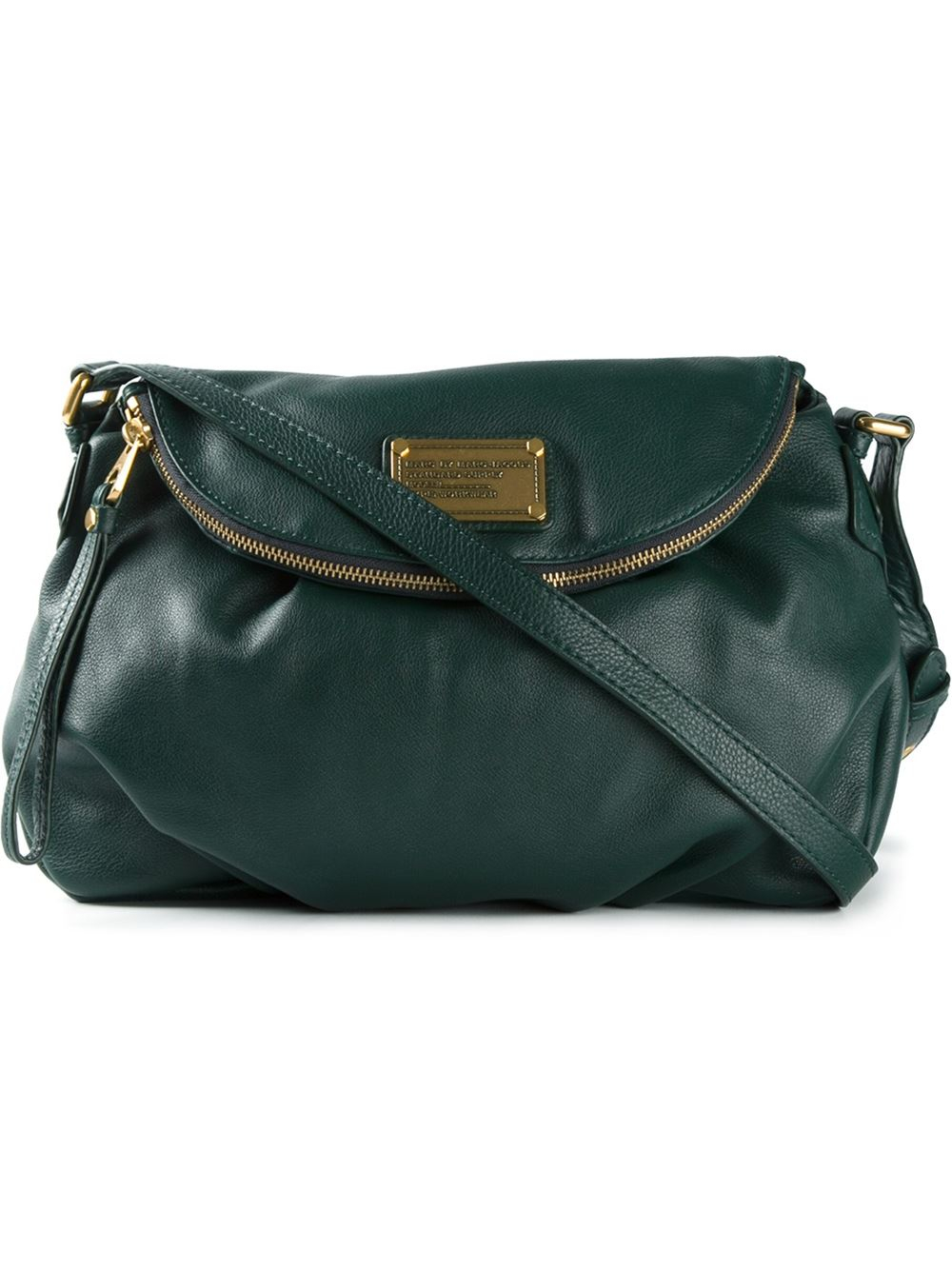 lyst marc by marc jacobs 39 classic q natasha 39 crossbody bag in green. Black Bedroom Furniture Sets. Home Design Ideas